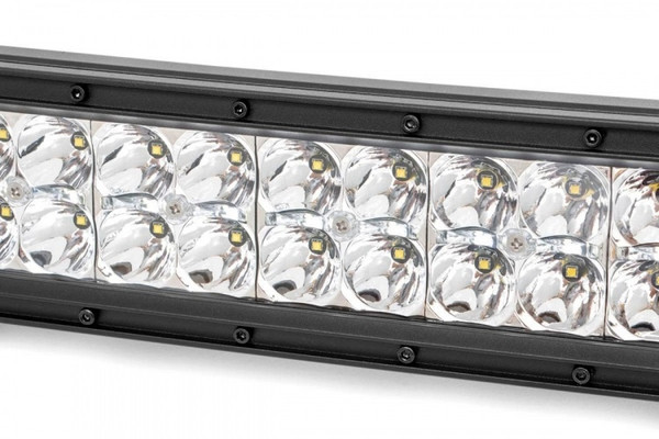Can-Am 12-inch Cree LED Light Bar - (Dual Row   Chrome Series w/ Cool White DRL)