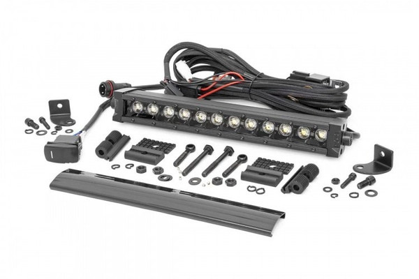 Can-Am 12-inch Cree LED Light Bar - (Single Row   Black Series w/ Cool White DRL)