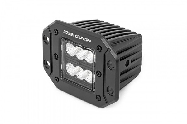 Can-Am 2-inch Square Flush Mount Cree LED Lights - (Pair | Black Series)