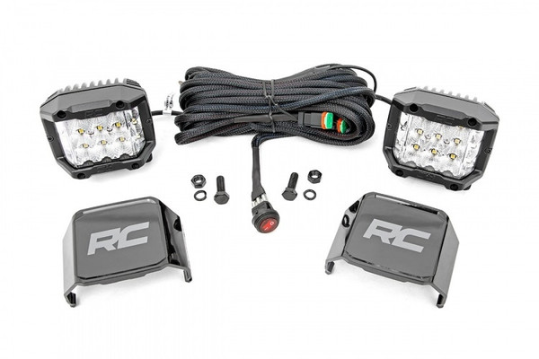 Can-Am 3-inch Wide Angle OSRAM LED Lights (Pair) by Rough Country