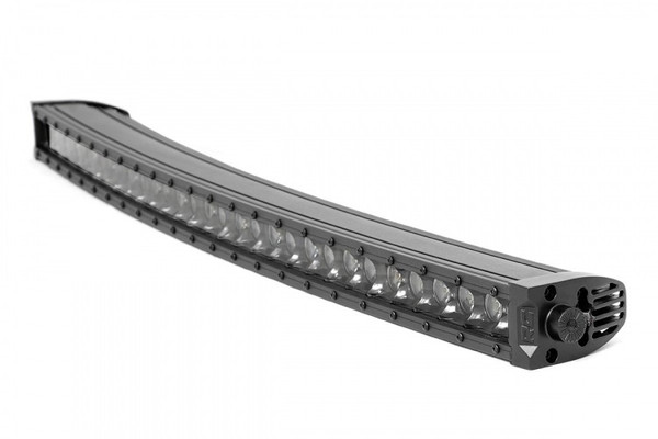 Can-Am 30-inch Curved Cree LED Light Bar - (Single Row   Black Series w/ Cool White DRL)