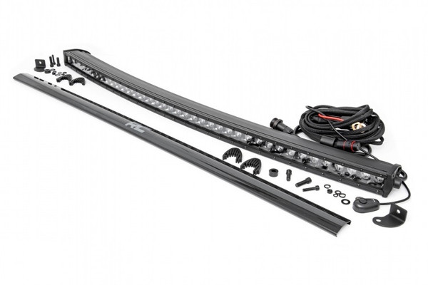 Can-Am 40-inch Curved Cree LED Light Bar - (Single Row   Black Series) by Rough Country