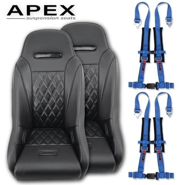 Can Am Maverick X3 Apex Suspension Seats (Harness Bundle)