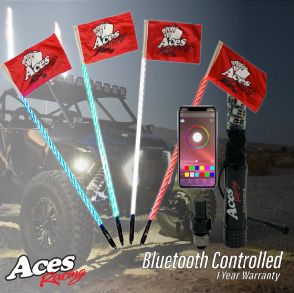 Can Am (Bluetooth) Deluxe Lighted Whips by Aces Racing