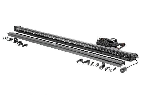 Can-Am 50-inch Straight Cree LED Light Bar - (Single Row | Black Series) by Rough Country