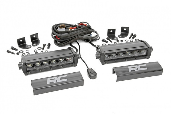 Can-Am 6-inch Cree LED Light Bars (Pair | Black Series) by Rough Country