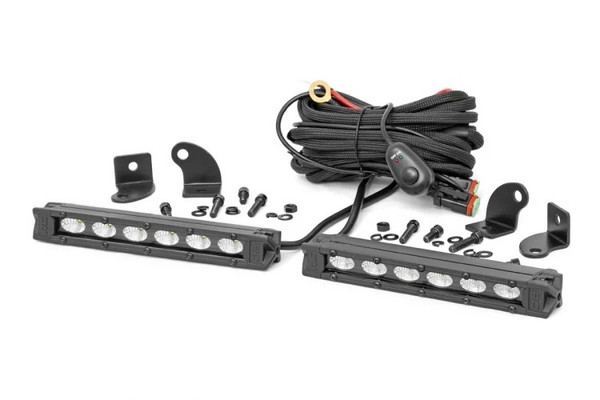 Can-Am 6-inch Slimline Cree LED Light Bars (Pair) by Rough Country