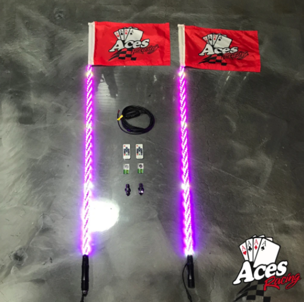 Can Am 400 Combination Deluxe Lighted Whips