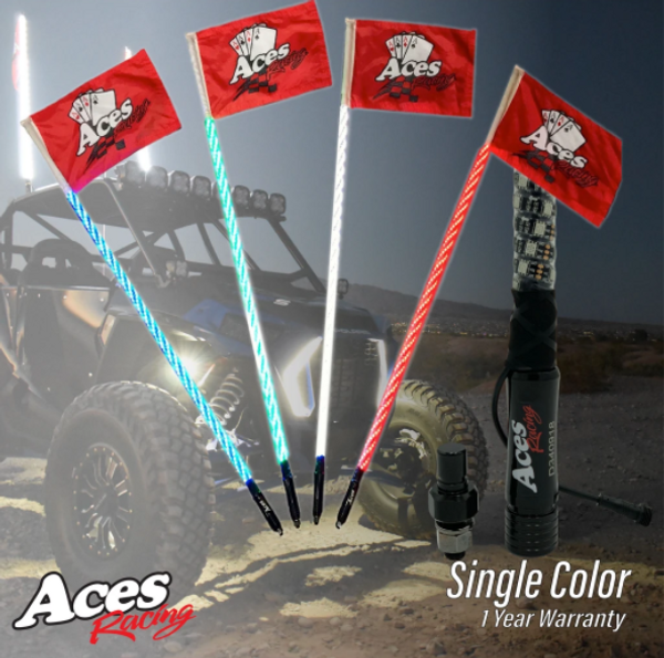 Can am Deluxe Lighted Whips (Single Colors) by Aces Racing