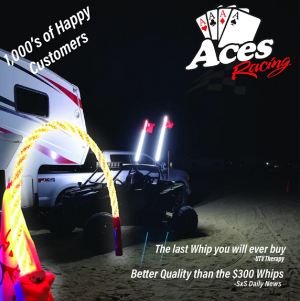 Can am Deluxe Lighted Whips (Single Colors)
