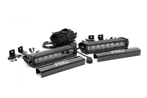 Can-Am 8-inch Cree LED Light Bars (Pair   Black Series) by Rough Country