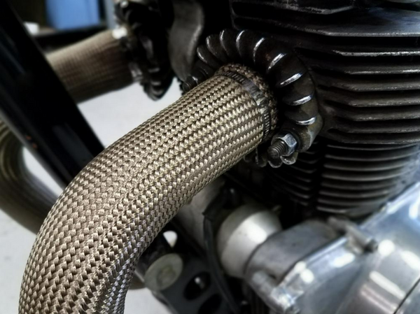 """Can Am Offroad Exhaust 2"""" wide x 5' Sleeve Titanium by Design Engineering"""