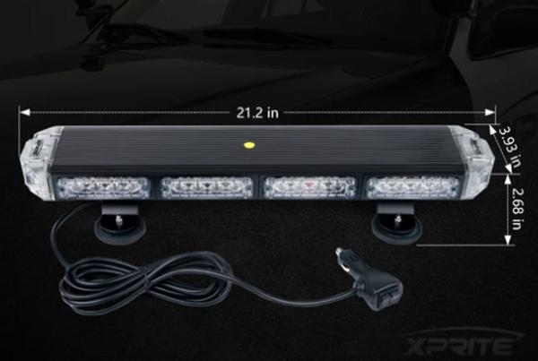 "Can Am 21"" Amber Sparrow X Series Traffic Advisor LED Strobe Light Bar"