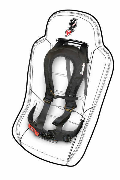 Can Am Commander Seat Harness by DragonFire (ECC)