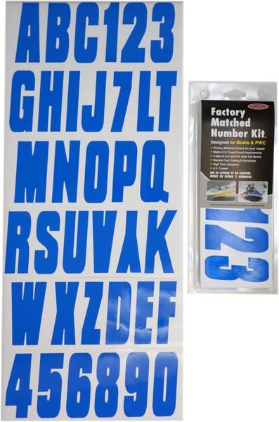 Can-Am Boat Lettering Solid Blue 3″ Registration Number Kit