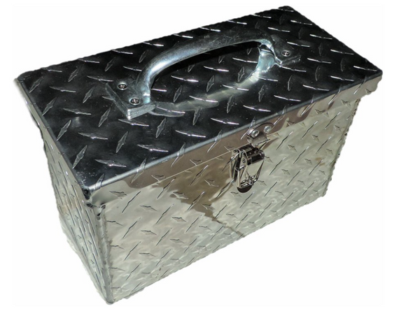 """Can Am Offroad Diamond Plate Aluminum Tool Box 12"""" by Hornet Outdoors"""