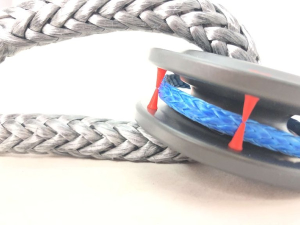 Can Am Rope Retention Pulley XTV and Standard Duty Soft Shackle Combo