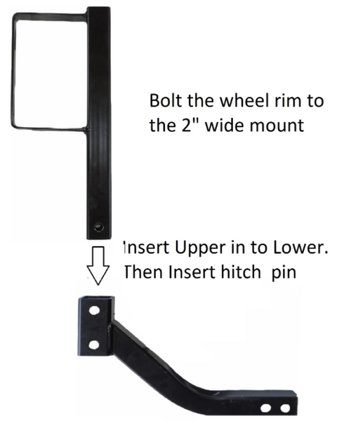Can Am Offroad Receiver Hitch Extended Wheel Mount by Hornet Outdoors