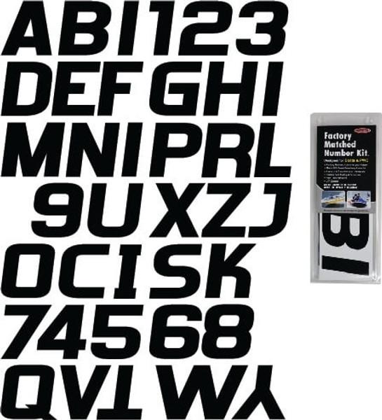 Can-Am Boat Lettering Solid Black 3″ Registration Kit