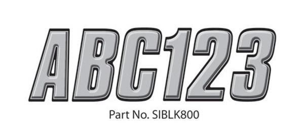 Can-Am Boat Lettering Silver/Black 3″ Registration Kit