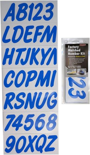 Can-Am Boat Lettering Solid Blue 3″ Registration Kit