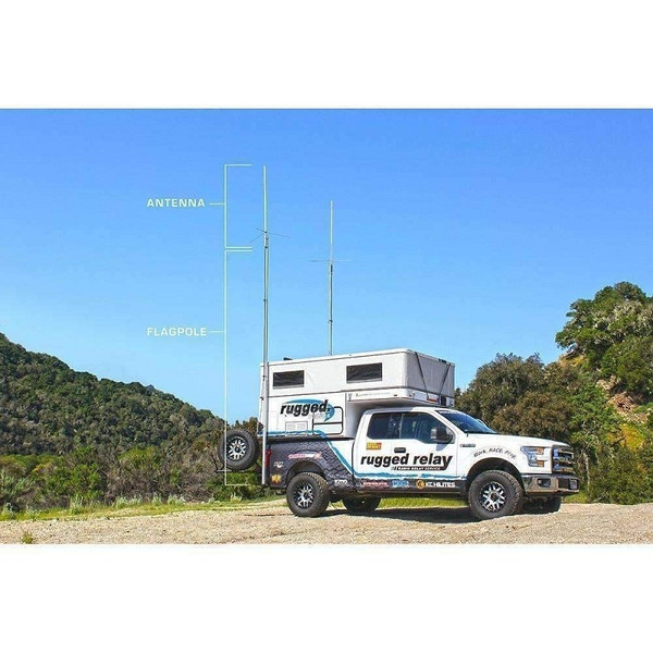 Can Am Digital Mobile Radio with Fiberglass Antenna Base Kit by Rugged Radios