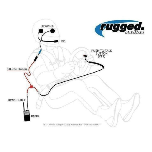 Can Am Single Seat Desert Car Harness by Rugged Radios