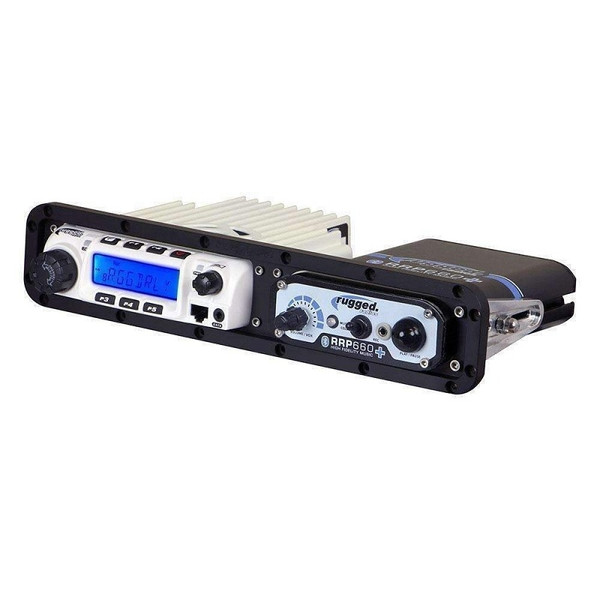 Can Am Dash Mount Horizonal for RM60 Style Radios and Intercom - Billet Aluminum by Rugged Radios