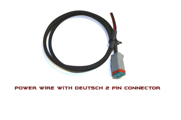 Can-Am 2′ Power Wire With Deutsch 2 Pin Connector On One End by XTC Power Products
