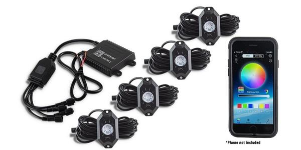 Can-Am Commander / Maverick / Defender 4-Pod RGB Rock Light Accessory Kit by Quad Logic