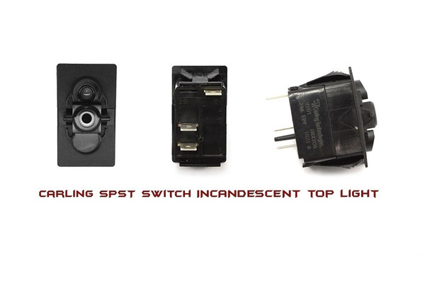 Can Am On-Off Spst Carling Rocker Switch With Incandescent Backlight by XTC Power Products