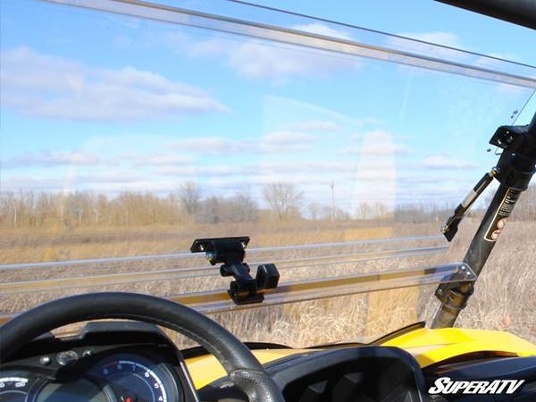 Cam-Am Commander Scratch Resistant Flip Windshield by SuperATV