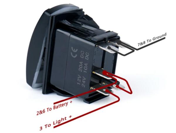 "Can Am 5 Pin Laser Blue Rocker Switch On Off ""Rock Lights"""