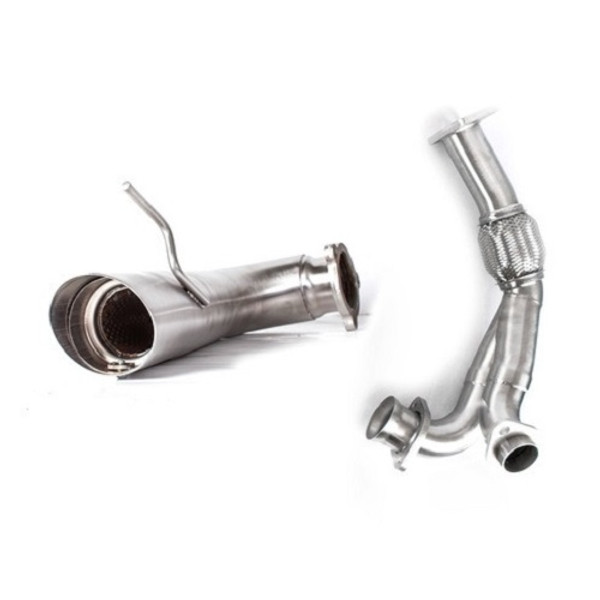 Can Am Maverick Turbo Pink Euro-Black Dual Full System Performance Series Exhaust by HMF Racing