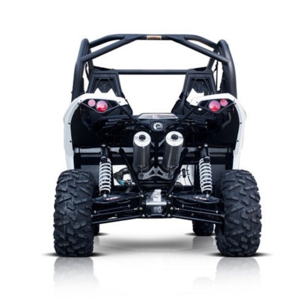 Can-Am Maverick Pink Euro Blackout Dual 3/4 System Performance Series Exhaust by HMF Racing