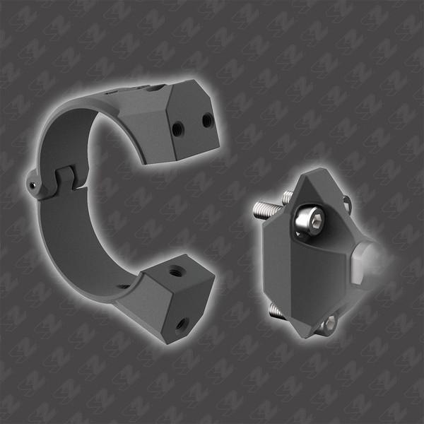 "Can Am Commander / Maverick / Defender 1.75"" ROPS Photon Sideview Mirror With Cast Aluminum Body & Bezel by Seizmik"