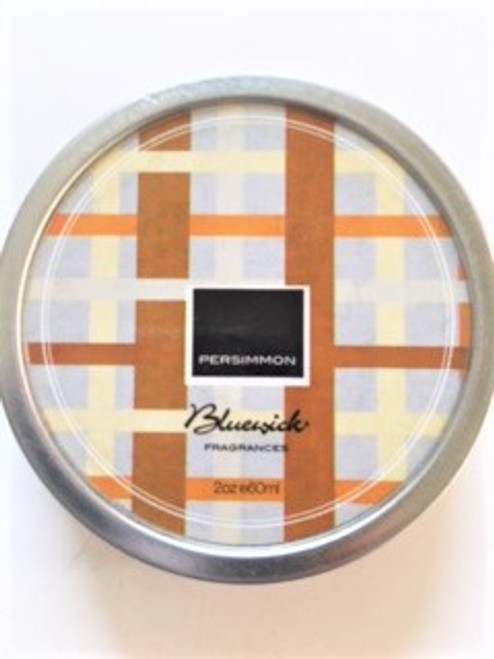 Bluewick Plaid Collection 2 oz. Soy Candle Tin - Persimmon