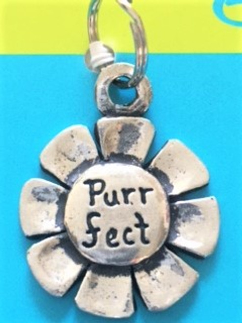"""A fun and whimsical way to personalize your pet! Well crafted pewter pet tag collar charm Size is 1"""" in diameter By Basic Spirit"""