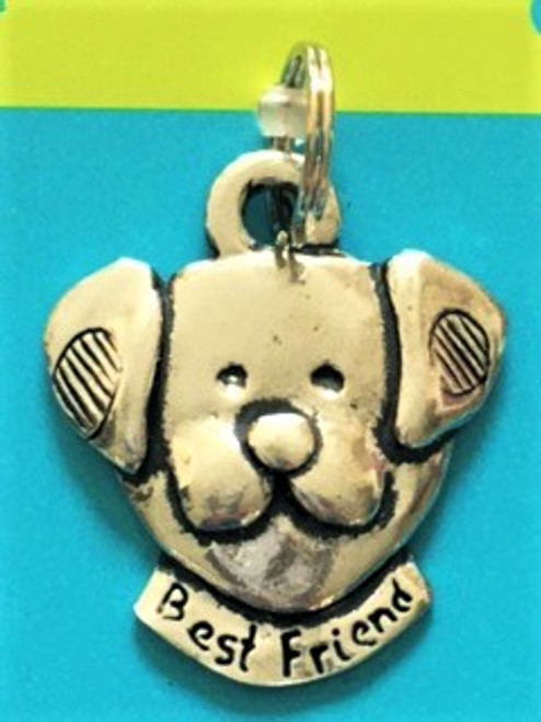 """A fun and whimsical way to personalize your pet! Well crafted pewter pet tag collar charm Size is 1.25"""" wide, 1.37"""" long, .2"""" thick By Basic Spirit"""