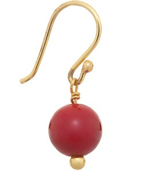 Buji Bijoux Red Coral Earrings