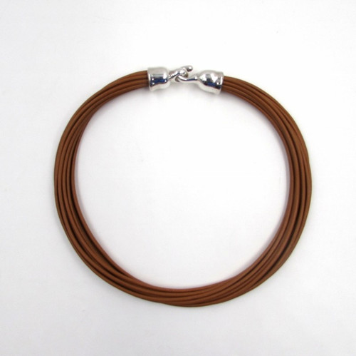 "SSD Simon Sebbag Designs Brown Leather 18"" Multi Strand Necklace"
