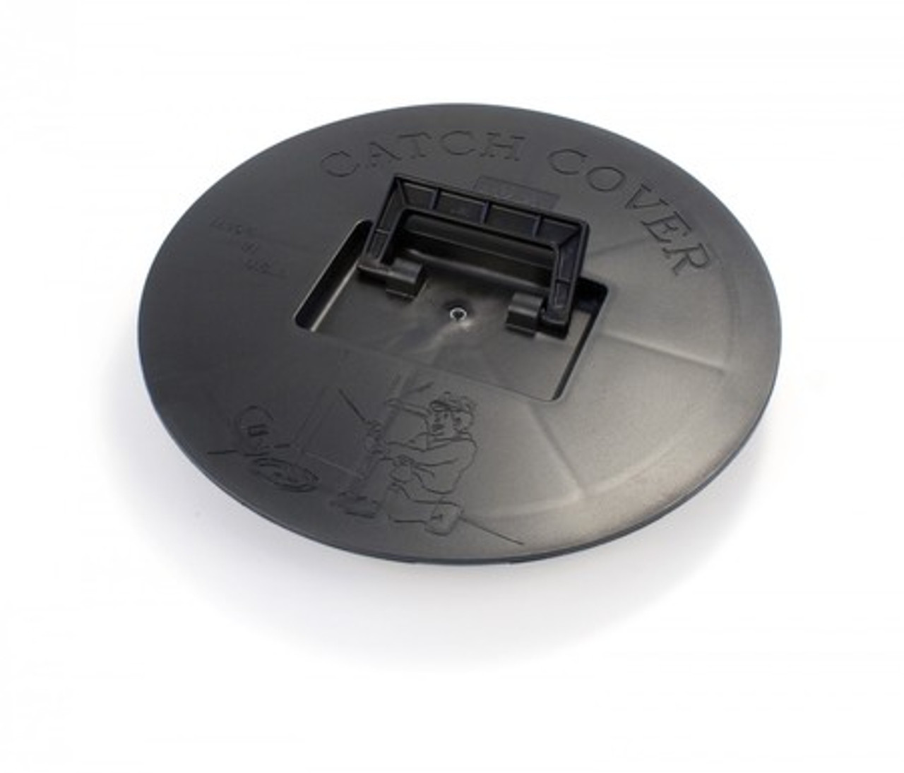 Picture of the Round Catch Cover that snaps down securely into the mounting Base