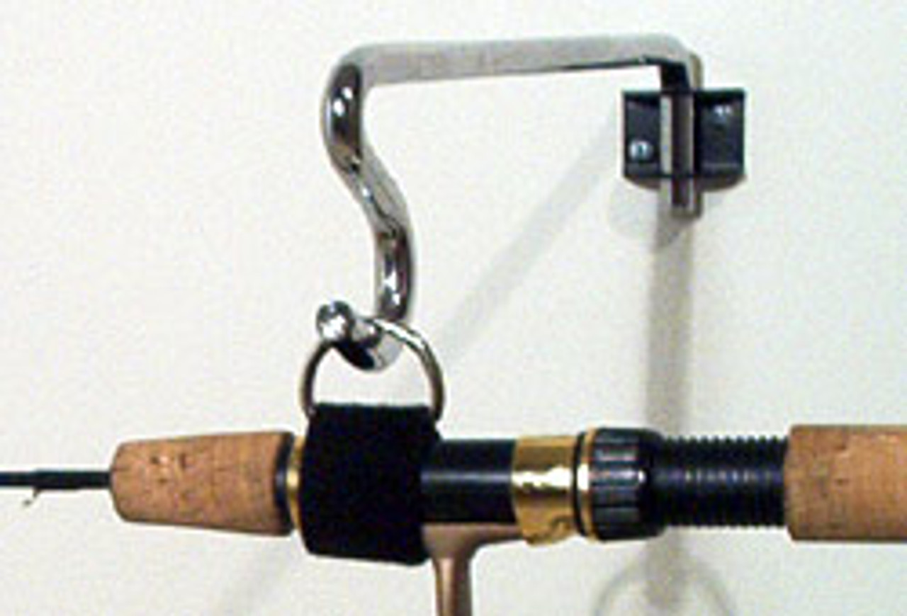 Secures your ice fishing rod