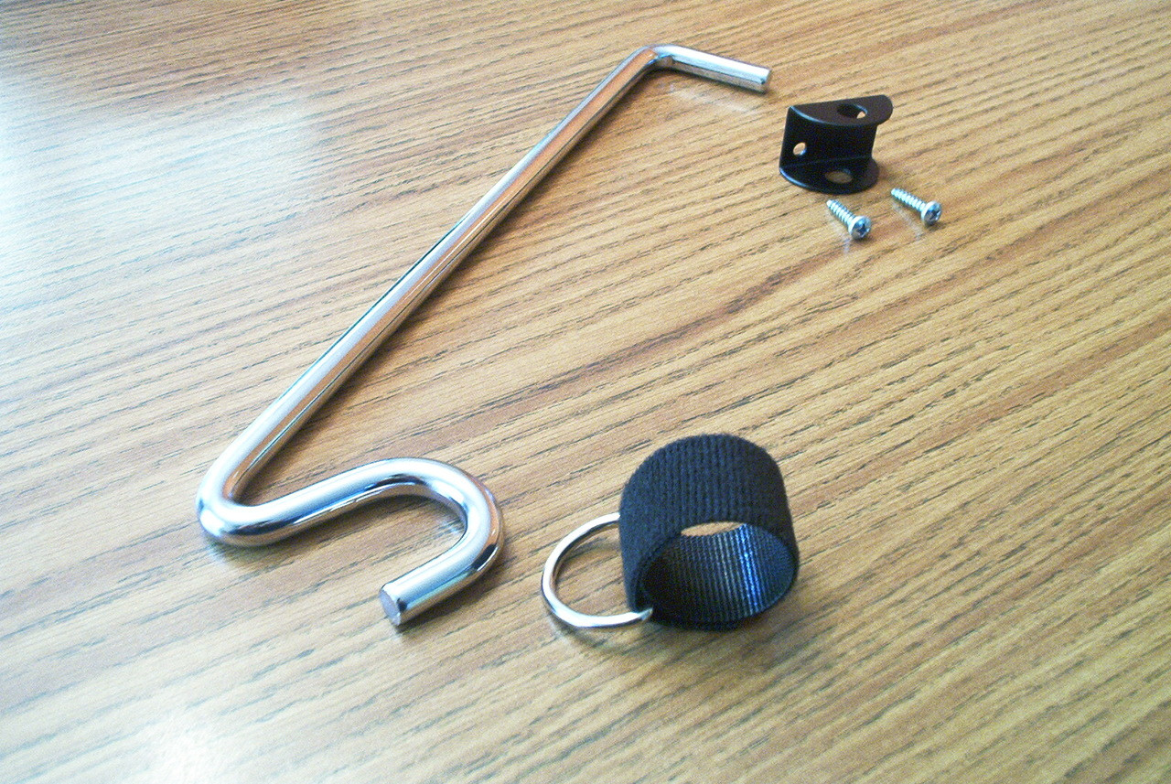 Each rod holder comes with Rod Strap and D-ring, S-Hook Bar and wall bracket with mounting screws!