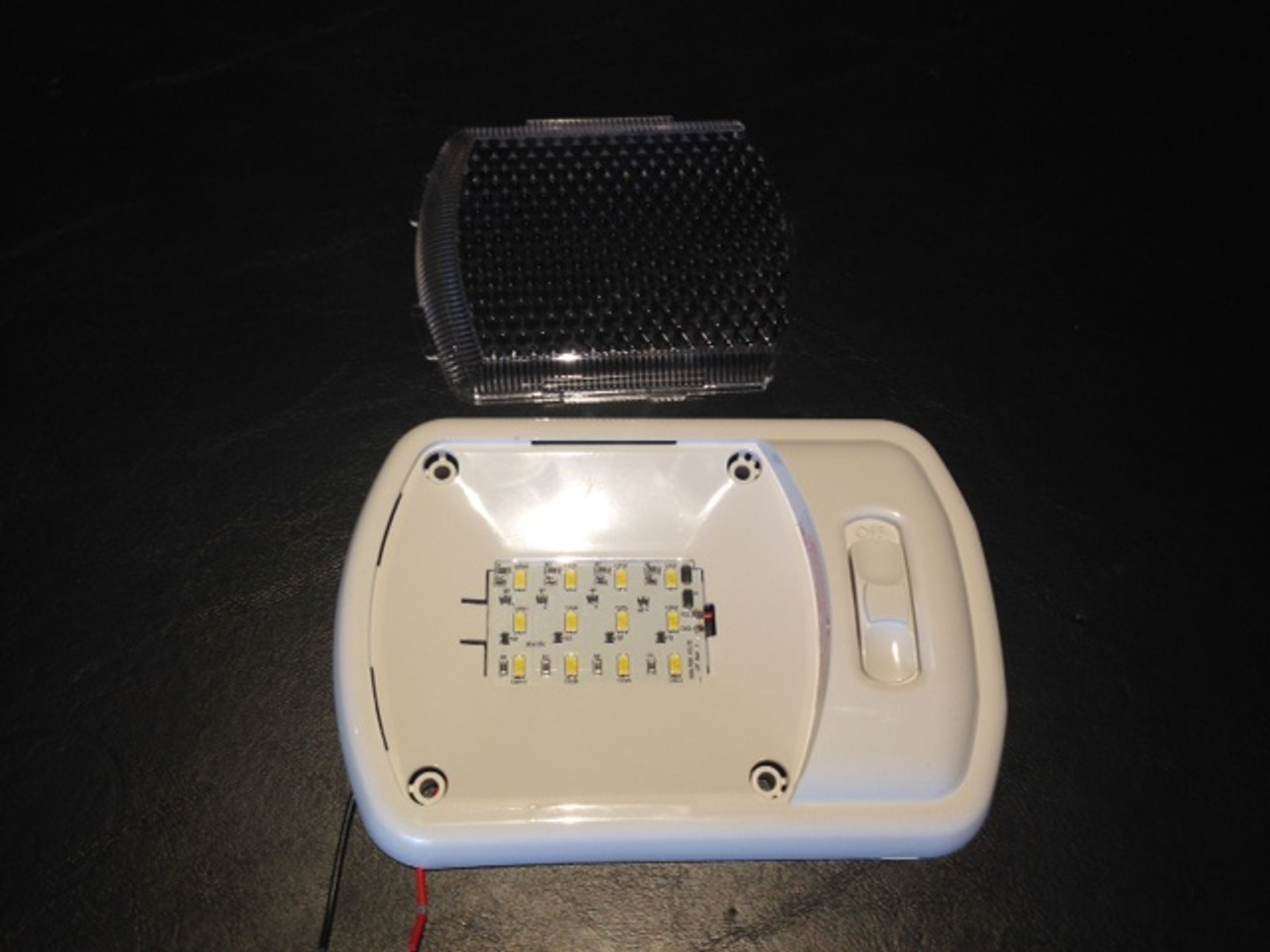 400 Lumens per light, with clear lens