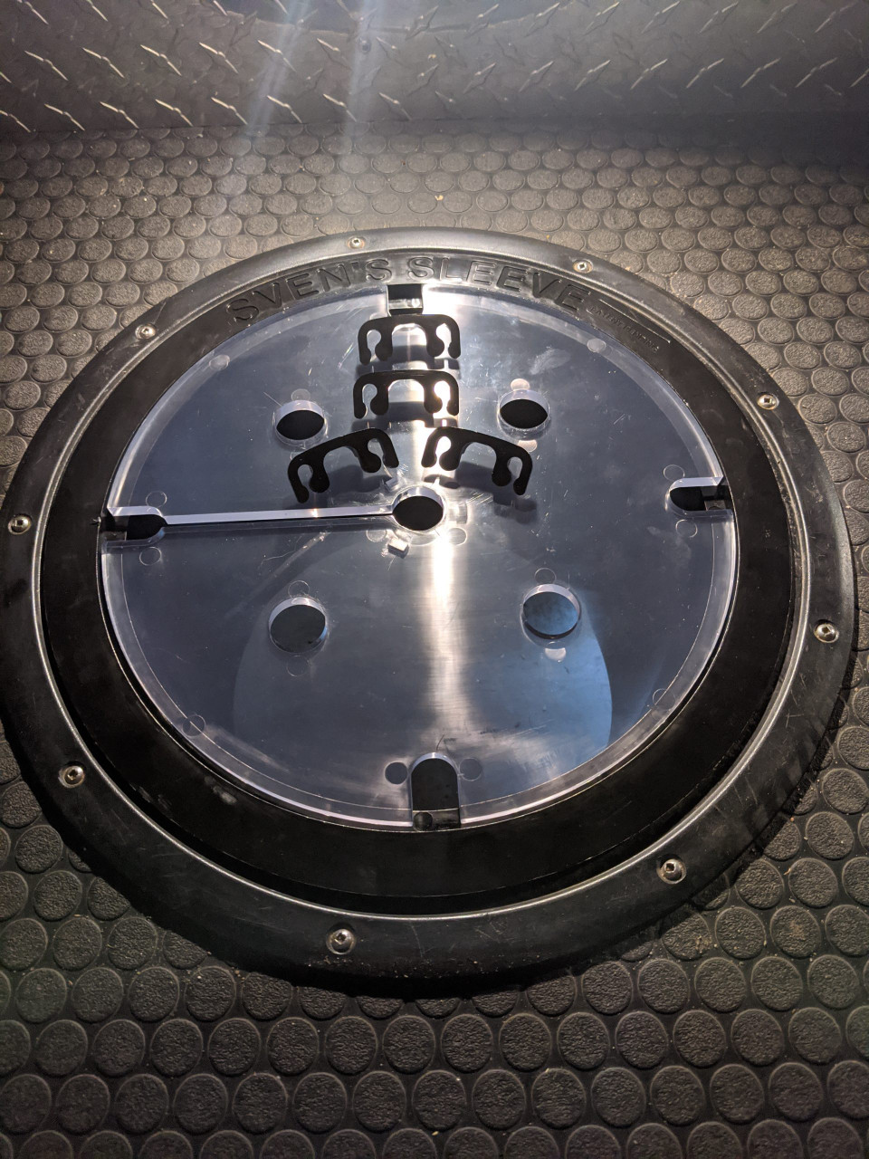 PICTURE OF SPACERS THAT CAN BE USED FOR FITTING FISH HOLE BUDDY, ICE CASTLE FISH HOUSES.