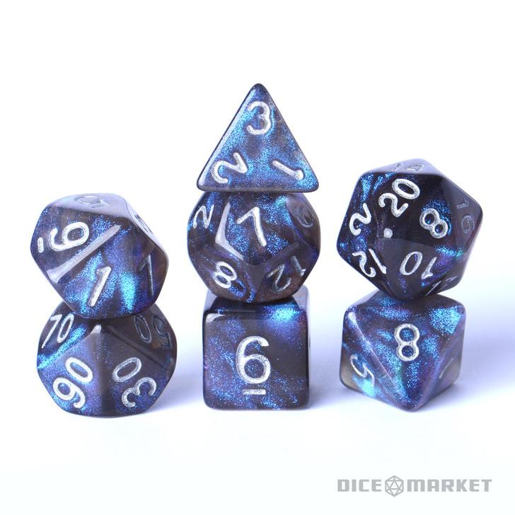 Smokey Blue Boreal 7pc Polyhedral Dice Set