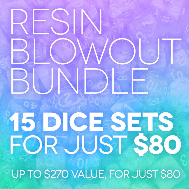 For 3 days only you can take advantage of some of the most incredible deals we've ever offered. These highly discounted packages offer a potential savings of up to 68% off per set.   No reject or unused dice here! Each blowout bundle will include 15 random, different, factory inspected dice sets.