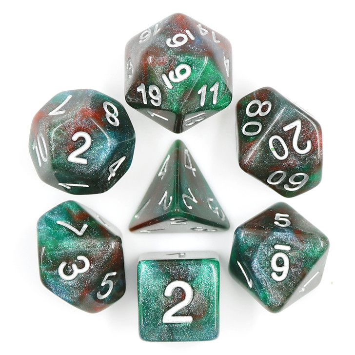 These are just an example of some of the sets you may receive in your Random: By the Pound dice bundle.