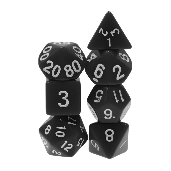 Receive a Random 7pc Opaque Dice Set of one of the pictured dice sets.
